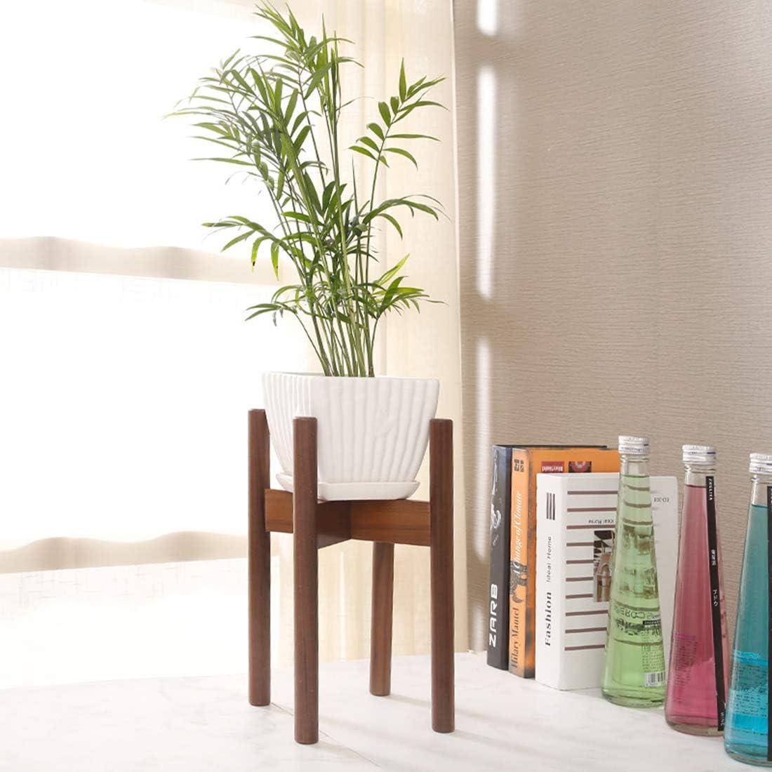 Maceta de madera de la mejor calidad, macetas y macetas – Nueva maceta nórdica de madera para macetas de jardín y decoración del hogar ecológica (no incluye maceta de flores y plantas) –