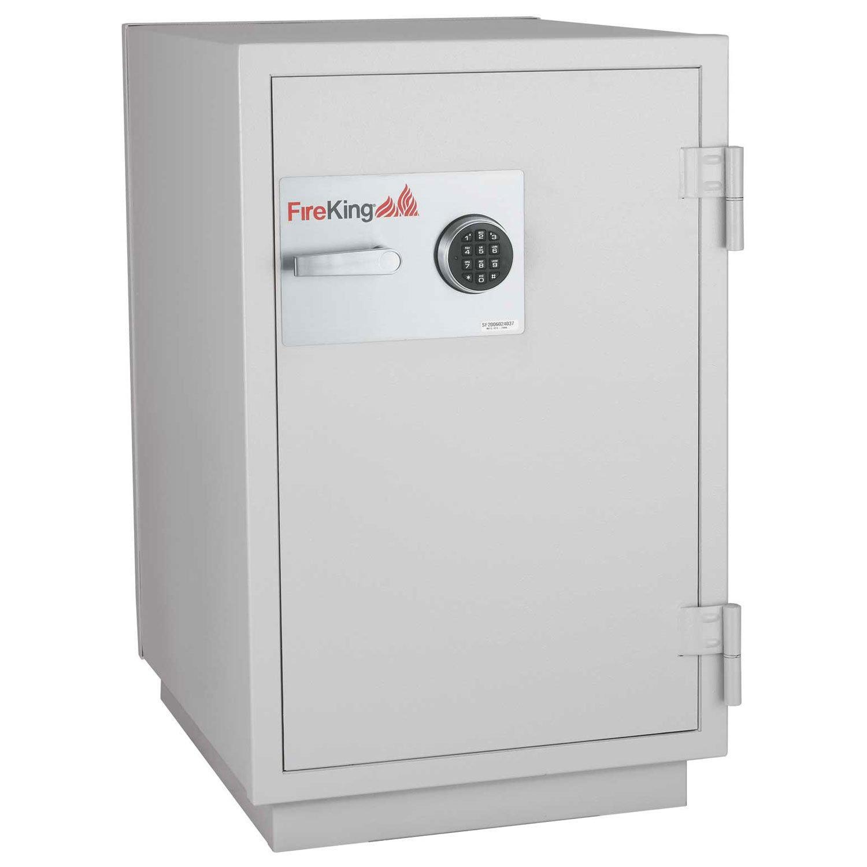 Fireking 3-Hour Data Safe, Impact and Burglary Rated, 40.25'' H x 25.25'' W x 31'' D/2.7 cu. ft., Platinum Finish