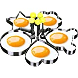 Maydolbone 5PCS Fried Egg Mold Egg Ring Egg shaper SUS304 Stainless Steel Pancake Mold Rings Kitchen Cooking Tools