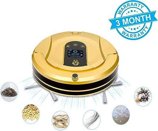 GJF Robot Aspirador con Control Remoto, Soporte Pared Virtual,3 ...