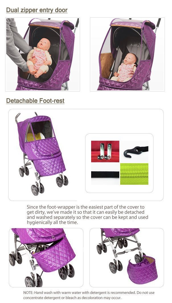 Manito Castle Alpha Stroller Weather Shield (Chocolate) by Manito (Image #3)