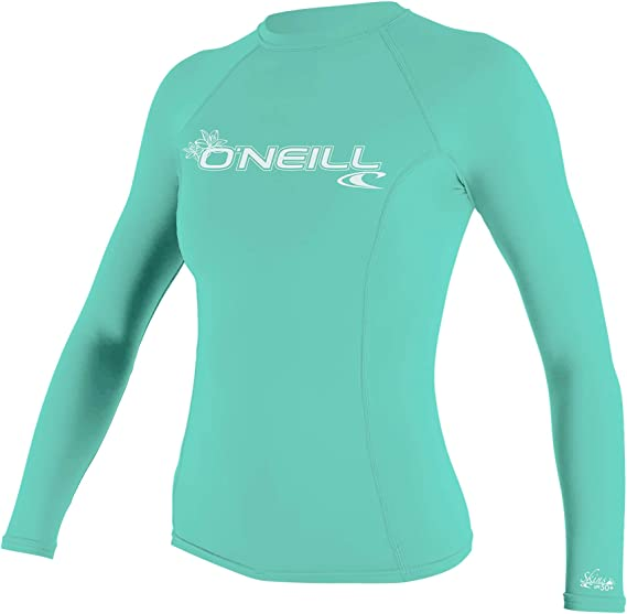 ONeill Womens Basic Skins Camiseta de Manga Larga Quick Dry Ligero Rash Vest Top Seaglass - Ajuste de Rendimiento: Amazon.es: Deportes y aire libre