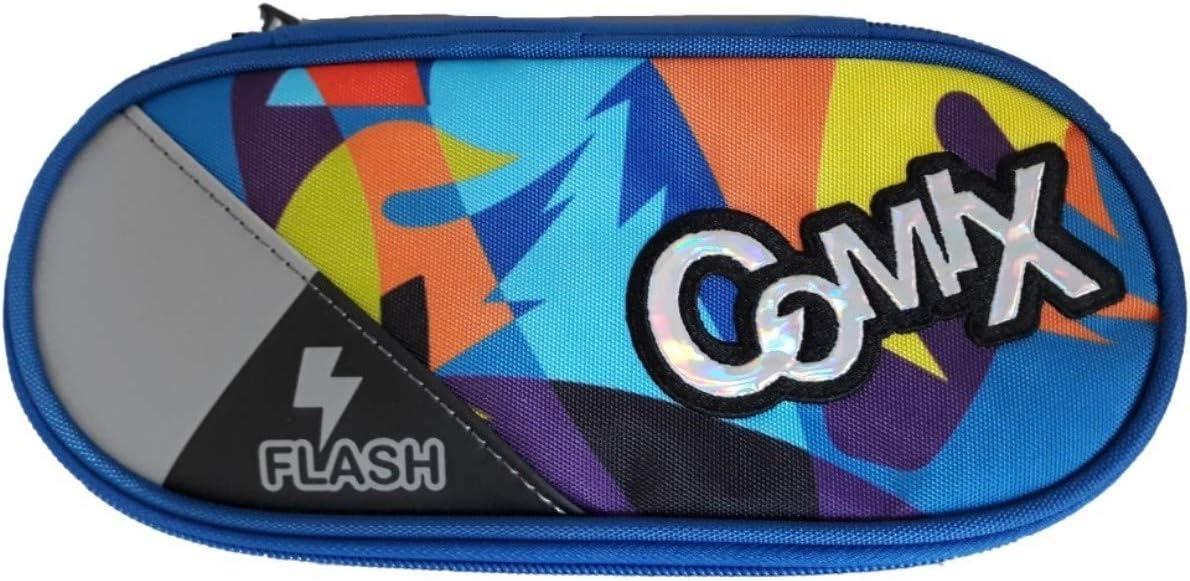 Azzurro-Orange massimo Astuccio Ovale Comix Flash Special Organizzato Portapenne