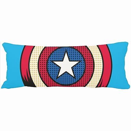 Decorativo almohadas escudo medio tono Capitán América ...