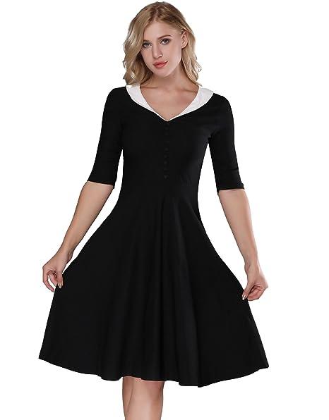Amazon.com: Vintage 1950s vestidos – para mujer capa collar ...