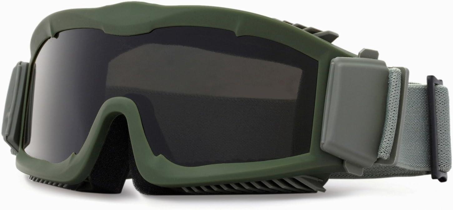 Kit de gafas de tres lentes intercambiables tácticas, para seguridad y con flujo de aire