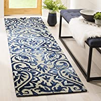 Safavieh Dip Dye Collection DDY511K Handmade Royal Blue and Beige Wool Runner (23 x 8)