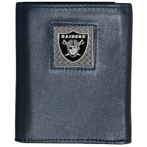 NFL Oakland Raiders Leather Gridiron Tri-Fold Wallet