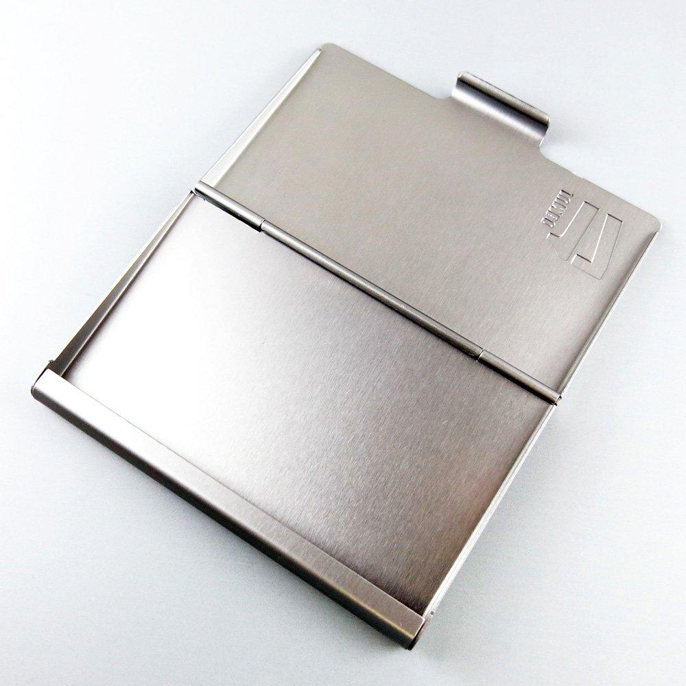 Troika Jumbo 17 Kartenetui Cdc78 Ti Vistenkartenetui 17 Prägung Auf Deckel Für Ca 17 Karten Aluminium Titanfarben Das Original Von