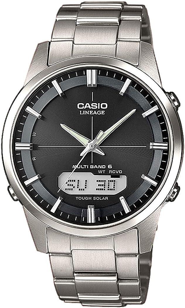 Casio WAVE CEPTOR Reloj Radiocontrolado y solar, Caja sólida, para Hombre