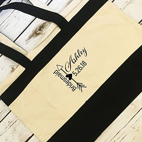 Amazon Personalized Bridesmaid Tote Gift Bridal Party Gift For
