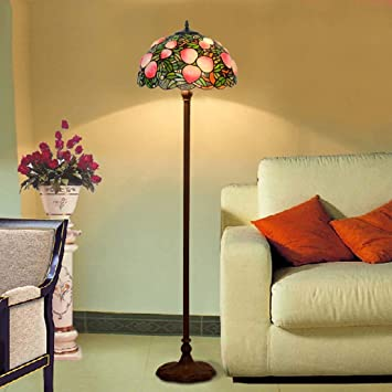 Lámpara de pie de estilo Tiffany, luz de piso de sombra de ...
