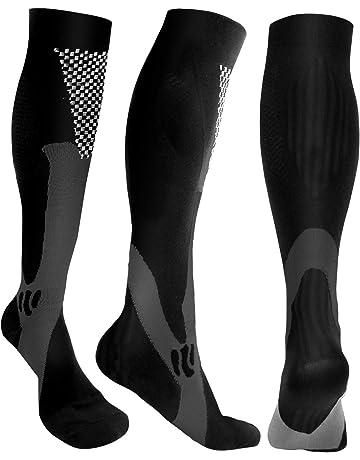 c290906c47e 3 Pairs Compression Socks Men Women Athletic Socks for Run