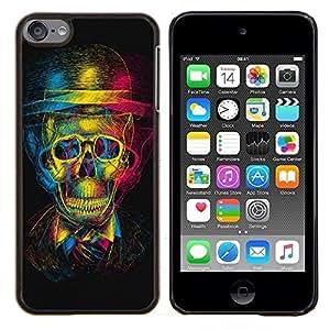 TECHCASE---Cubierta de la caja de protección para la piel dura ** Apple iPod Touch 6 6th Touch6 ** --Diseño Cráneo 3D