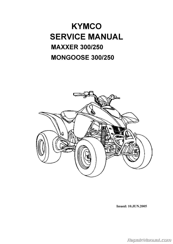 CPP-243-Print KYMCO Mongoose 250 300 MAXXER ATV Printed Service Manual:  Manufacturer: Amazon.com: Books