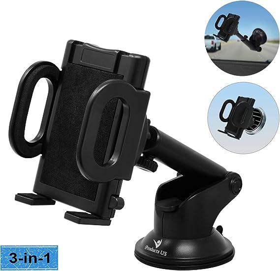 Soporte de silicona para el tel/éfono del coche soporte para tel/éfono m/óvil iPhone o GPS. ancho ajustable para cualquier smartphone para salpicadero soporte antideslizante