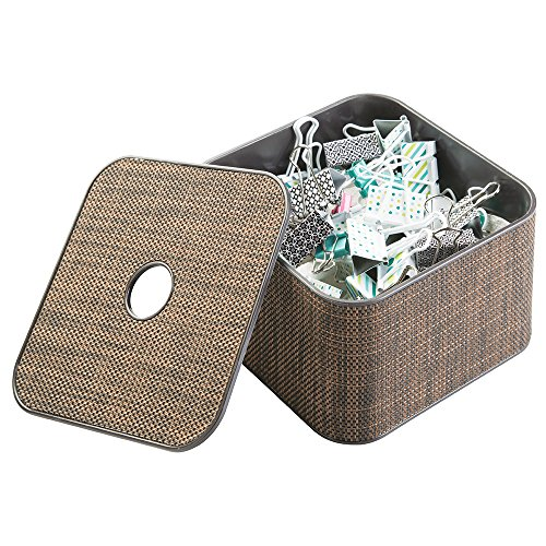 mDesign Supplies Organizer Canister Staples
