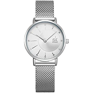 SK Simple Watches on Sale Analog Mesh Watches for Women Stainless Steel Band reloj de Mujer