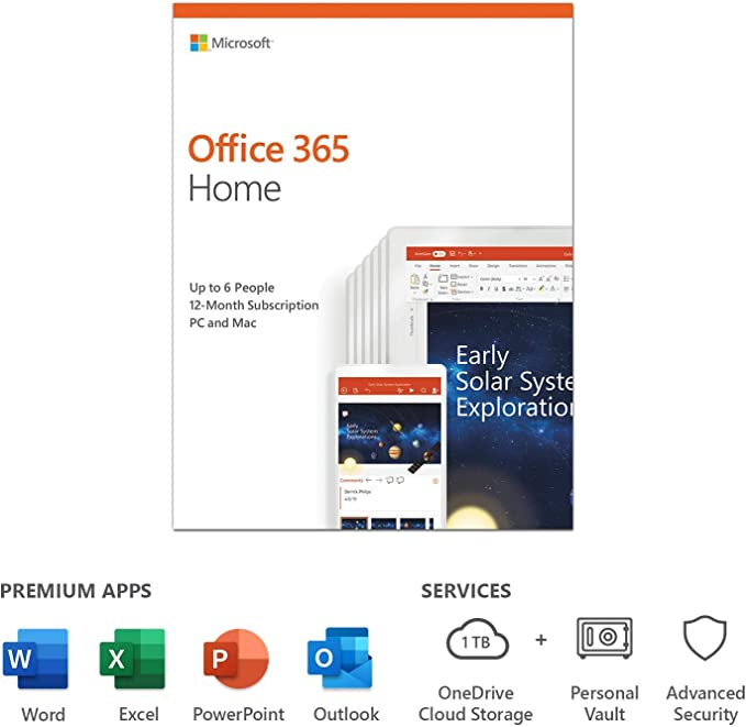 Microsoft SW RET OFFICE 365 HOME/ENG 1Y 6GQ-01076 MS: Amazon.es: Software
