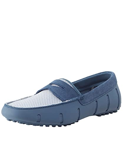 Men's Lux Penny Loafers Blue & Grey