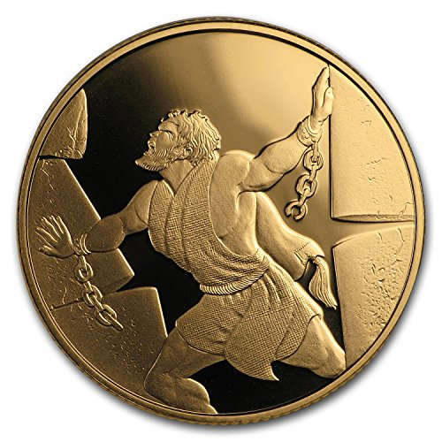 2016 IL Israel 1/2 oz Gold 10 NIS Samson in the Philistine House 1/2 OZ Brilliant Uncirculated