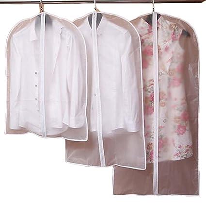 Fundas traje transparente prenda protección chamarra a prueba de polvo bolsa  de almacenamiento de plástico ahorro b618aedd93f
