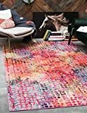 Unique Loom Chromatic Collection Modern Abstract Colorful Cotton Candy Rectangle (4′ x 6′) Review