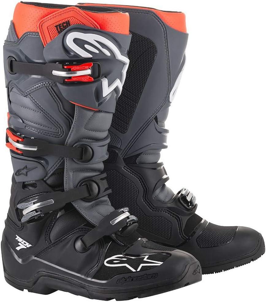 Multi, one/_size Alpinestars Unisex-Adult Tech 7 Anaheim 2020 Le Boots Grey//Ylw Fluo//Turquise Sz 10