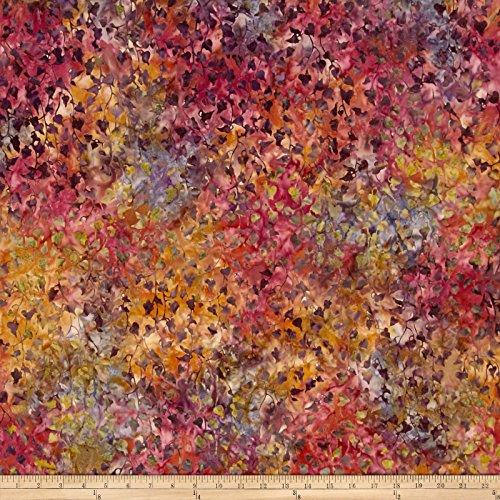 Kaufman Artisan Batiks Bella Vita Vine Leaves Sunset Fabric By The Yard
