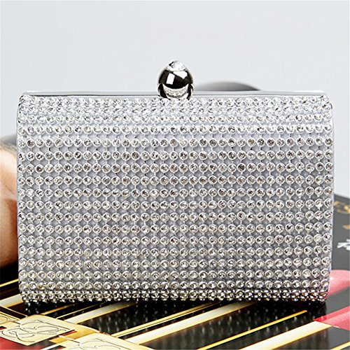 Purse à Lovely Silver Pochette Soirée Color Sac Bandoulière rabbit Black Sac Main Bridal à Petit Dames F8w8YqZr