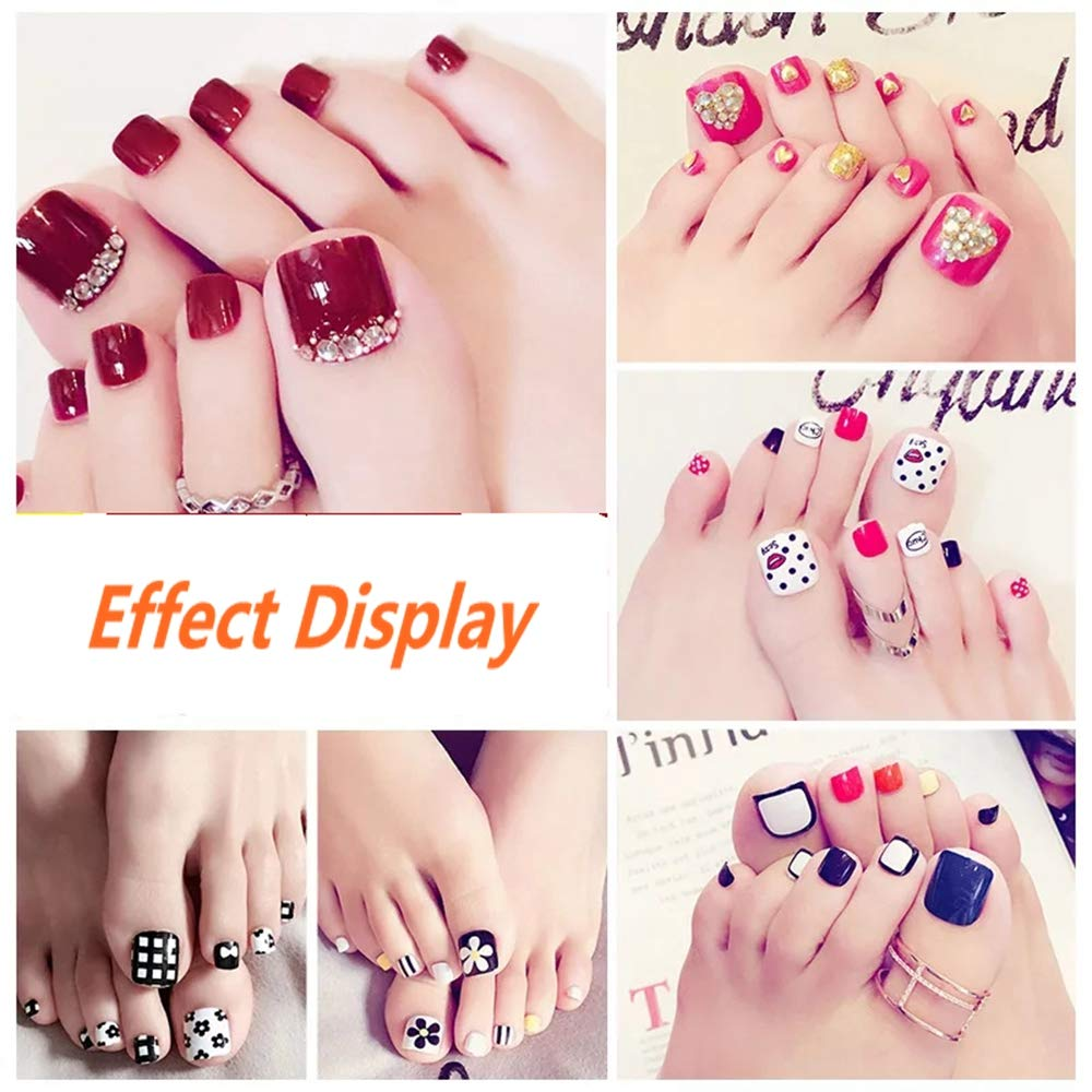 1 Jzf 500pcs White French Acrylic Artificial Fake False Art Nails Tips With Box Nail Care, Manicure & Pedicure