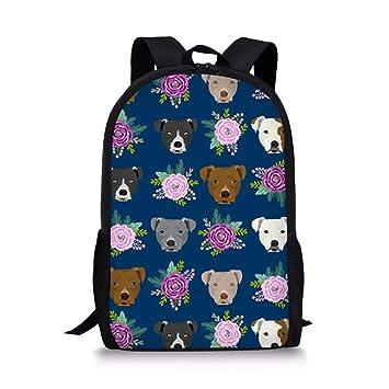 Mochilas Escolares para Adolescentes Mochila Escolar de diseño de Bulldog ZJZ176C: Amazon.es: Equipaje