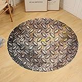 Gzhihine Custom round floor mat Pattern of Metal Background