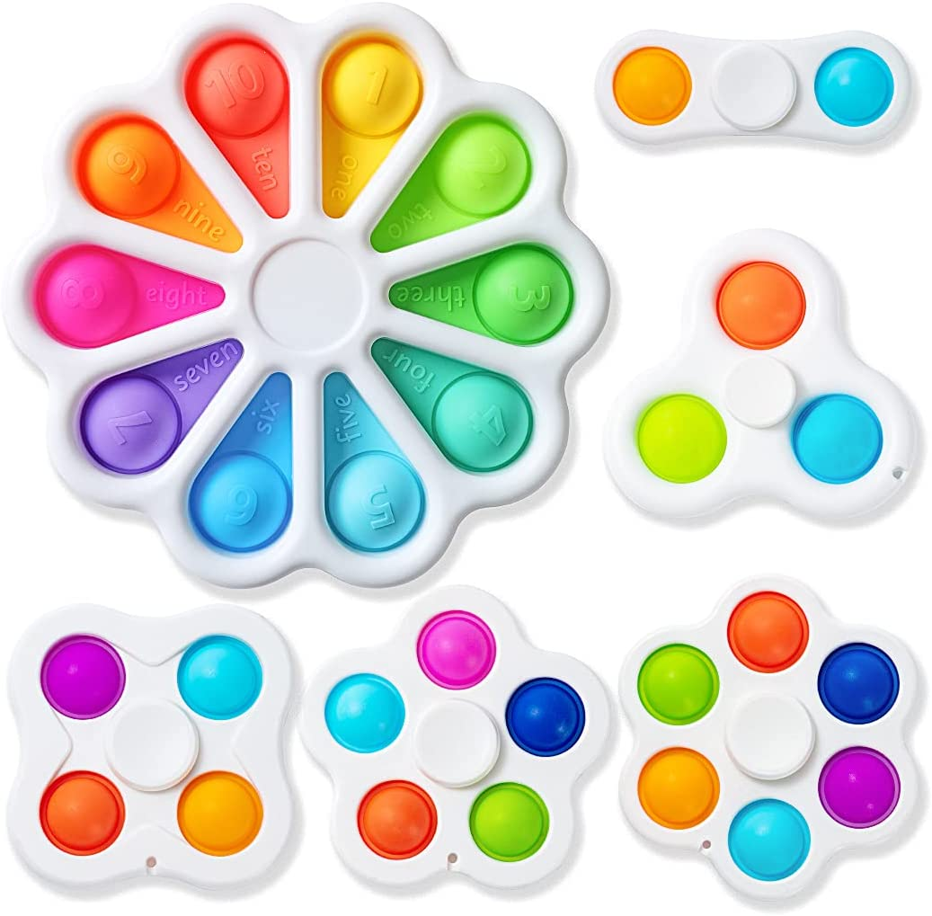 6 Pack Fidget Spinners