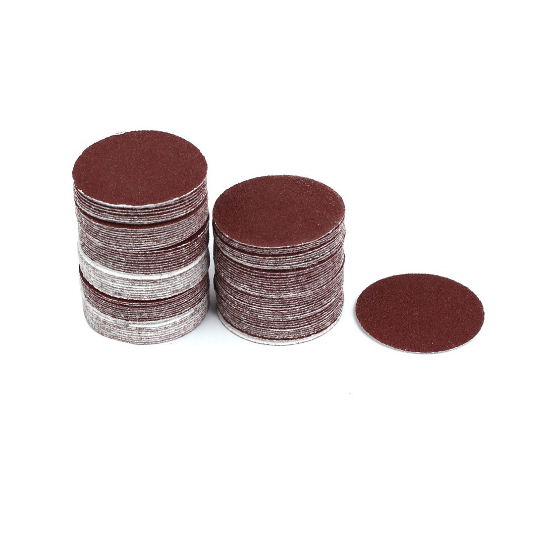 uxcell 2-inch Dia 80 Grits Self-stick Sanding Disc Polishing Pad Flocking Sandpaper 100pcs