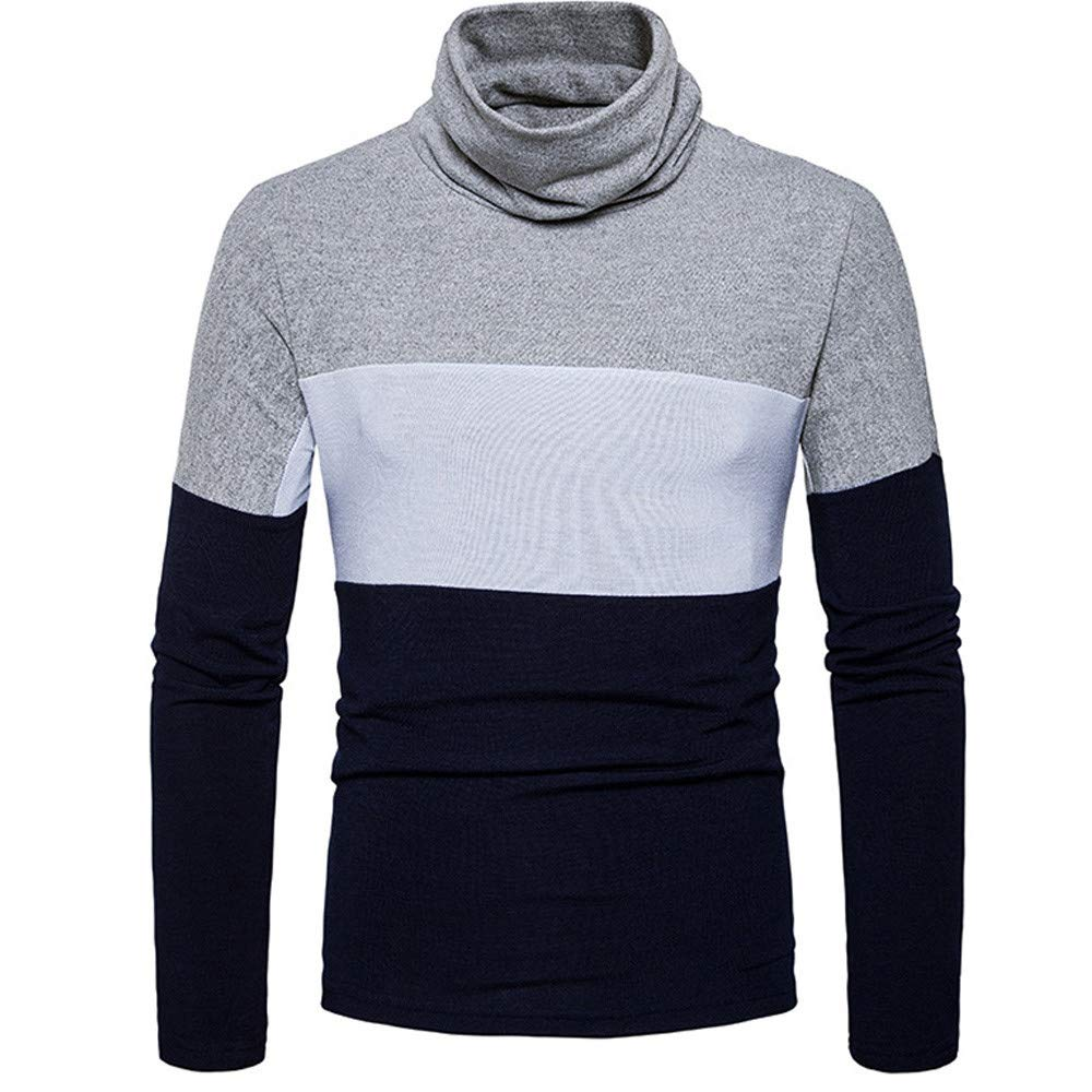 Sweater for Men, Corriee Mens Elastic High Collar Long Sleeve Warm Knitted Sweaters Autumn Winter Casual Pullover Tops