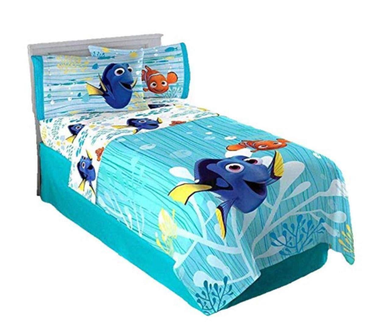 Kids Bedding Set 3 Piece Finding Dory Nemo Bed Sheet Set Twin Size Children Bedroom