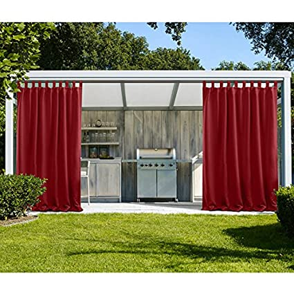 cololeaf outdoor patio curtain water resistant tab top energy saving light blocking curtains drapes uv - Outdoor Patio Curtains