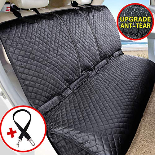 Vailge Bench Dog Seat Cover for Back Seat, 100% Waterproof Dog Car Seat Covers, Heavy-Duty & Nonslip Back Seat Cover for Dogs,Washable & Compatible Pet Car Seat Cover for Cars, Trucks & SUVs (Back Seat For Car)