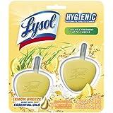 Lysol No Mess, Automatic Toilet Bowl Cleaner, Lemon Breeze, 2 Count, Nature Fresh Insipirations