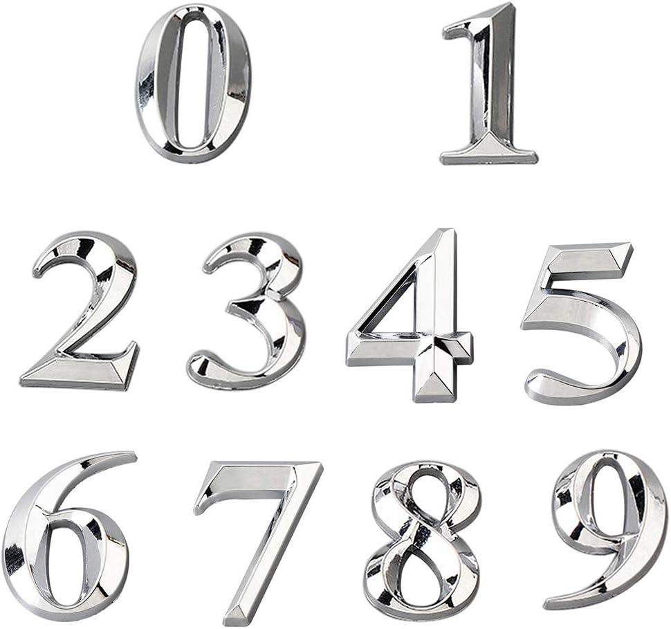 LPxdywlk Plaque De Porte De Maison Plaqu/ée Num/éro Dadresse Chiffre Chiffre Plaque Signe H/ôtel Bar /à La Maison D/écor Accessoires Sept