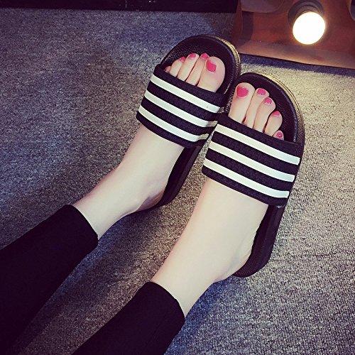 femmina cool pantofole fankou pantofole paio 43 morbida e 44 Maschio rimangono di bar nero bella indoor bagno estivi un bagno pantofole a antiscivolo FTpSqTwx