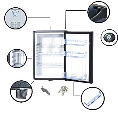 Smad 50L refrigerador silencioso minibar, 2 vías DC12V/AC240V RV ...