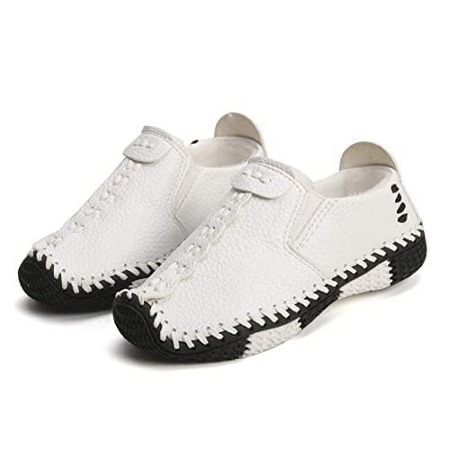 Mocasines para niño Chicos Plano Tacón Comodidad Ante Cuero Ponerse Zapatos de Vestir Zapatos Botas Zapatillas
