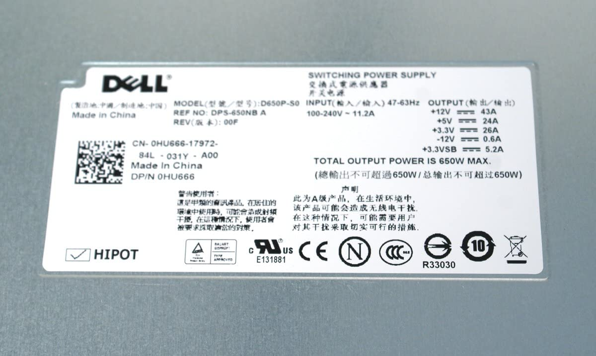 Dell 650w Psu