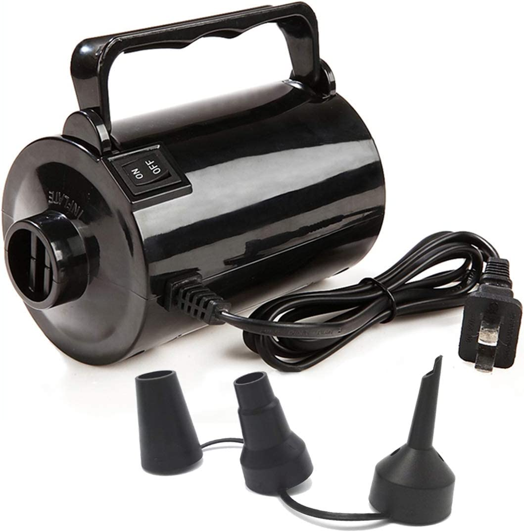 Electric Air Pump for Inflatable Pool Toys - High Power Quick-Fill Air Mattress Inflator Deflator Pump for Pool Float Raft Airbed with 3 Nozzles, 320W, 110V AC, 1.6PSI, Air Flow 26CFM: Home & Kitchen
