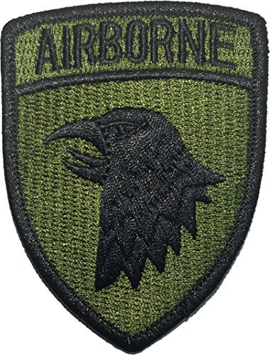 101st AIRBORNE Divisions Screaming Eagle US Army Military Uniform Sew Iron on Embroidered Applique Badge Sign Costume Paratrooper Shoulder Patch - Olive Drab/Green By Ranger Return (Paratrooper Set)