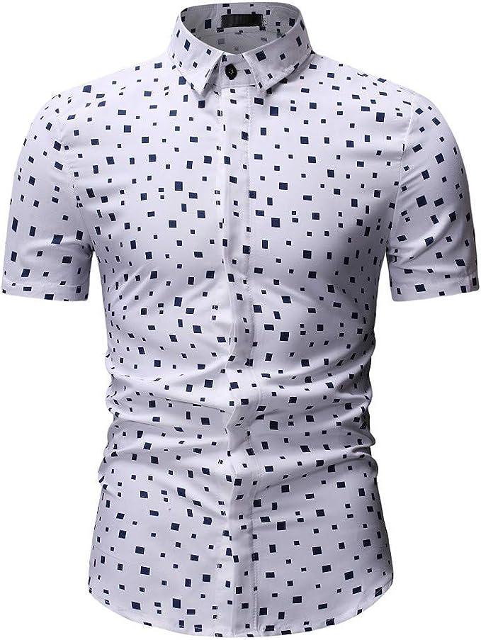 Internet—Camisa de Manga Corta con Estampado de Lunares para ...