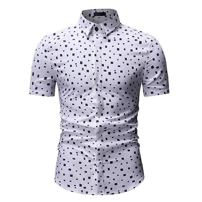 caecede22 Hombre Camisa Manga Corta de Negocios Camuflaje Carnaval Slim Fit Camisa  para Camisa Formal Casual de Primavera de los Hombres Camisas de Vestir con  Estilo ...