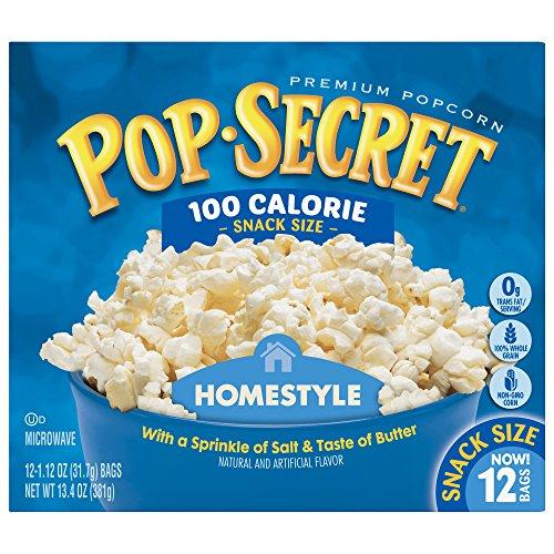 Pop Secret Snack Size 100 Calorie Homestyle Microwavable Popcorn, 13.4 Ounce, 12 Ct (Calories Microwave Butter Popcorn)